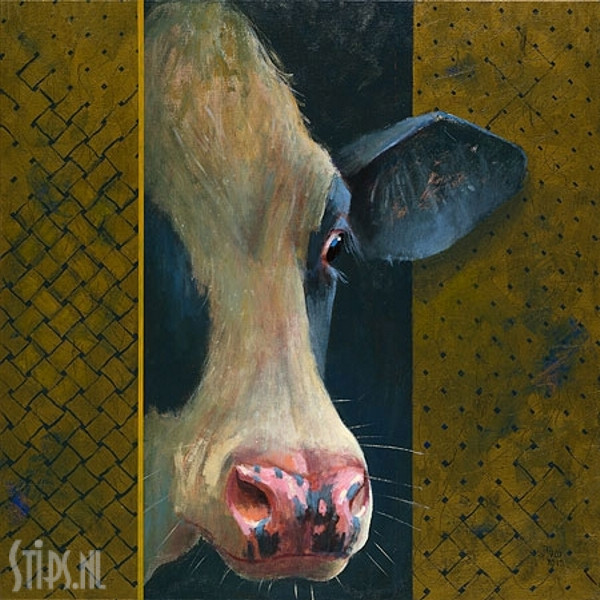 Koe om het hoekje - Theo Onnes - Giclee