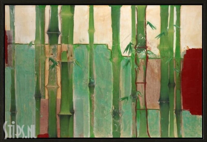 Bamboe II - Unda M - giclee met zwarte lijst