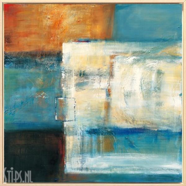 Colorfield II - Bea Danckaert - giclee in blanke lijst