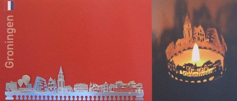 Groningen bij kaarslicht – souvenir kunstkaart