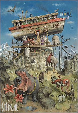 De ark van Noach – kunstkaart Marius van Dokkum