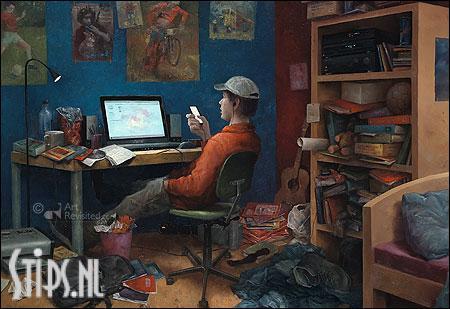Eerst het belangrijkste – kunstkaart Marius van Dokkum