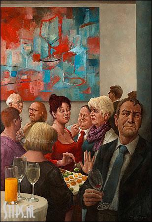 Hapje en drankje – kunstkaart Marius van Dokkum