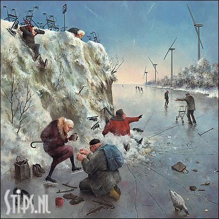 IJspret – kunstkaart Marius van Dokkum