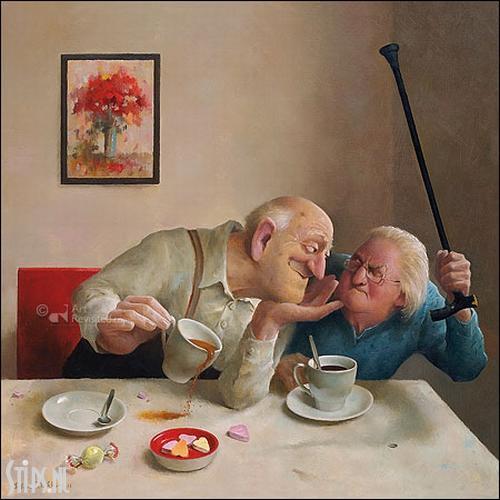 Liefde van een kant – kunstkaart Marius van Dokkum