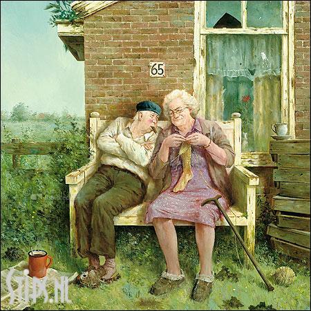 Liefde vergaat niet – kunstkaart Marius van Dokkum