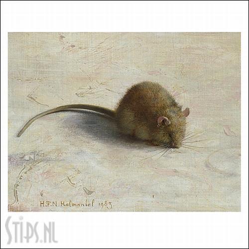 Muisje – kunstkaart Henk Helmantel