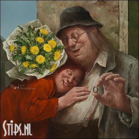 Recht uit het hart – kunstkaart Marius van Dokkum