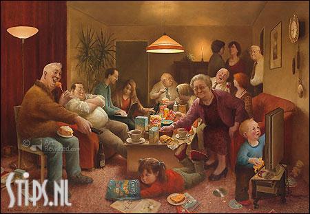 Vol en bol – kunstkaart Marius van Dokkum