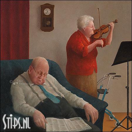 Wiegeliedje – kunstkaart Marius van Dokkum