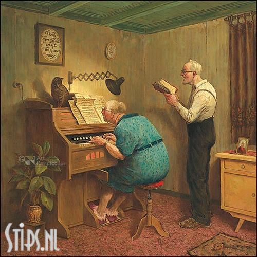 Zoals de ouden zongen – kunstkaart Marius van Dokkum