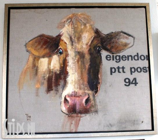 Koe op ptt postzak theo onnes originele werken schilderijen - Associatie van kleur e geen schilderij ...