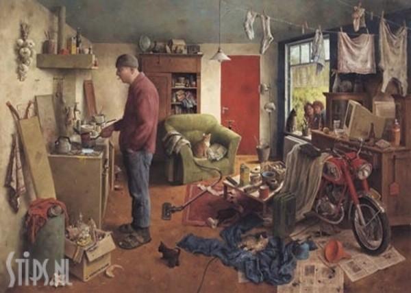 Mannenhuishouding – Marius van Dokkum – giclee