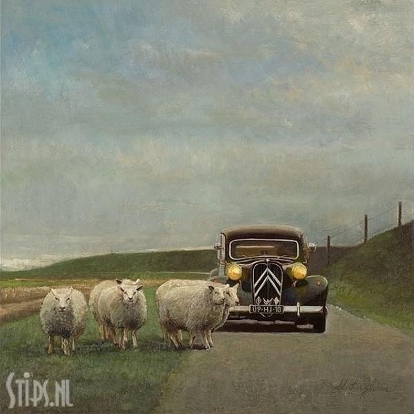 Slow Traffic – Langzaam verkeer – Martin Sijbesma – giclee