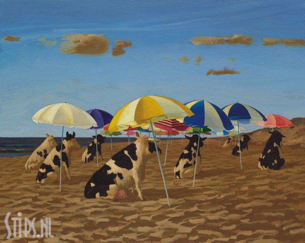 Koeien op het Strand – Bas Sebus