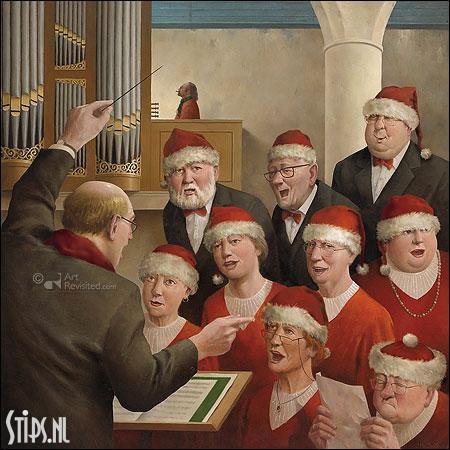 Goedgemutst – kunst kerstkaart Marius van Dokkum