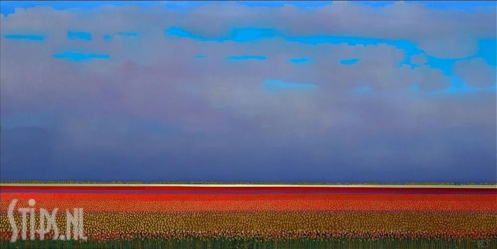 Red Tulipfields – Ton Dubbeldam – giclee