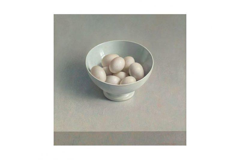 witte kom met eieren – jaarkalender 2018 helmantel
