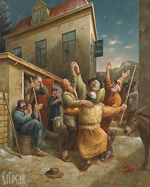 Dans van de Herders – Marius van Dokkum – giclee