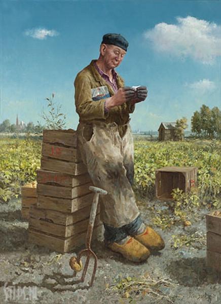 De aardappelsteker – Marius van Dokkum – giclee