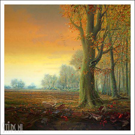 Herfst – kunstkaart Ger Stallenberg