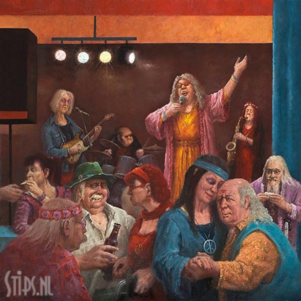 Hippie Reunie – Marius van Dokkum – giclee