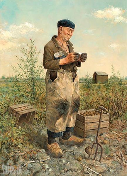 Landbouwer – Marius van Dokkum – giclee