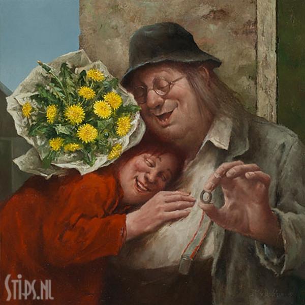 Recht uit het hart – Marius van Dokkum – giclee