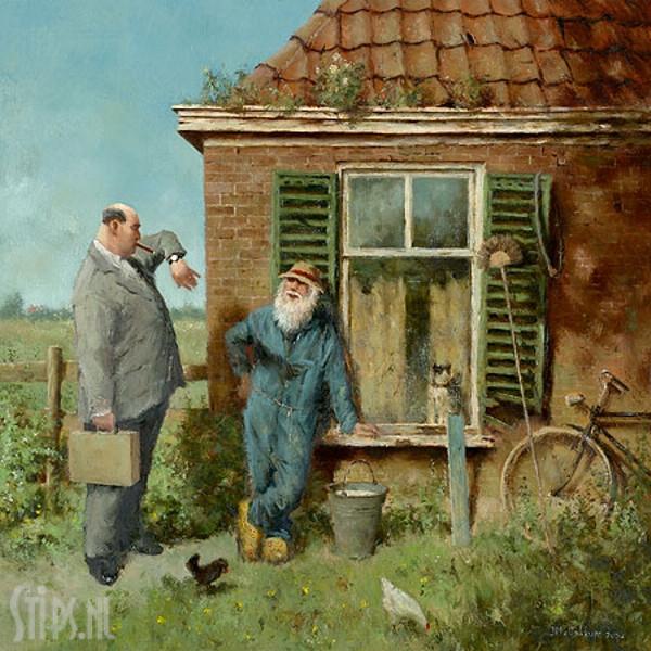 Rijke mensen – Marius van Dokkum – giclee