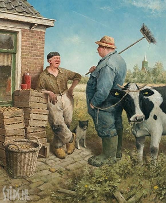Weerpraatje – Marius van Dokkum – giclee