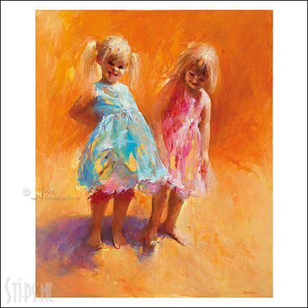 Zonnemeisjes – kunstkaart Dinie Boogaart