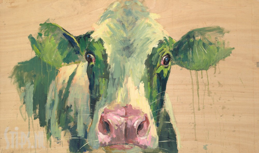 Groene koe – Theo Onnes – giclee