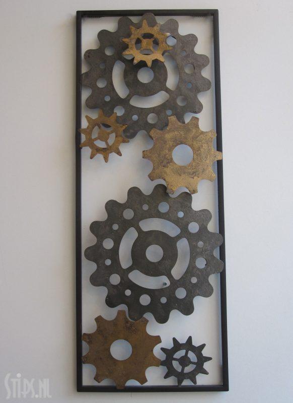 metalen wanddecoratie raderen wandobjecten stipsnl