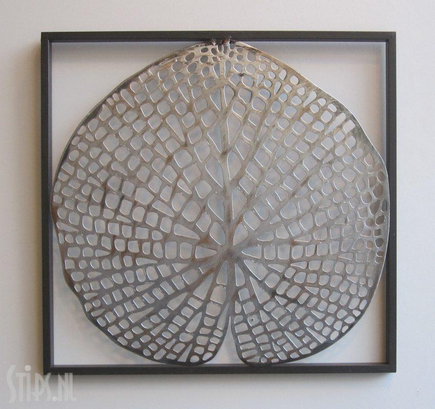 metalen wanddecoratie lotusblad