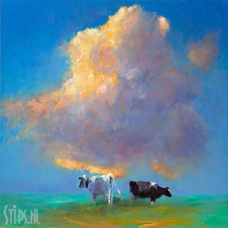Wolk en koeien – Dinie Boogaart