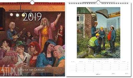 Marius van Dokkum jaarkalender 2019