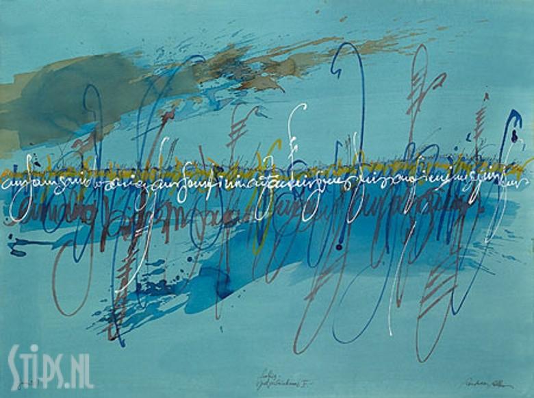 Writings on Blue – Andreas Alba – giclee