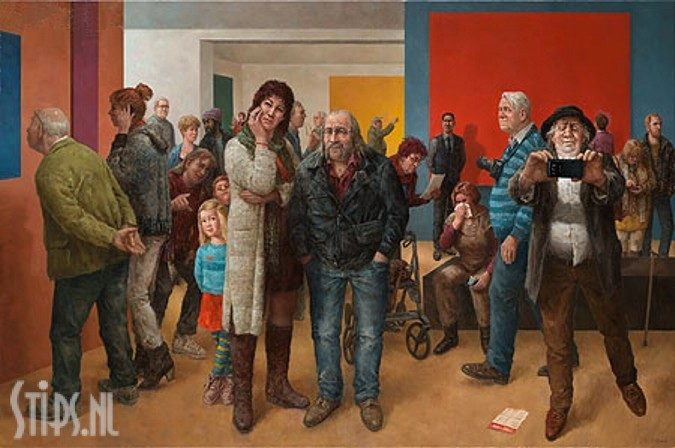 Museumbezoekers – Marius van Dokkum