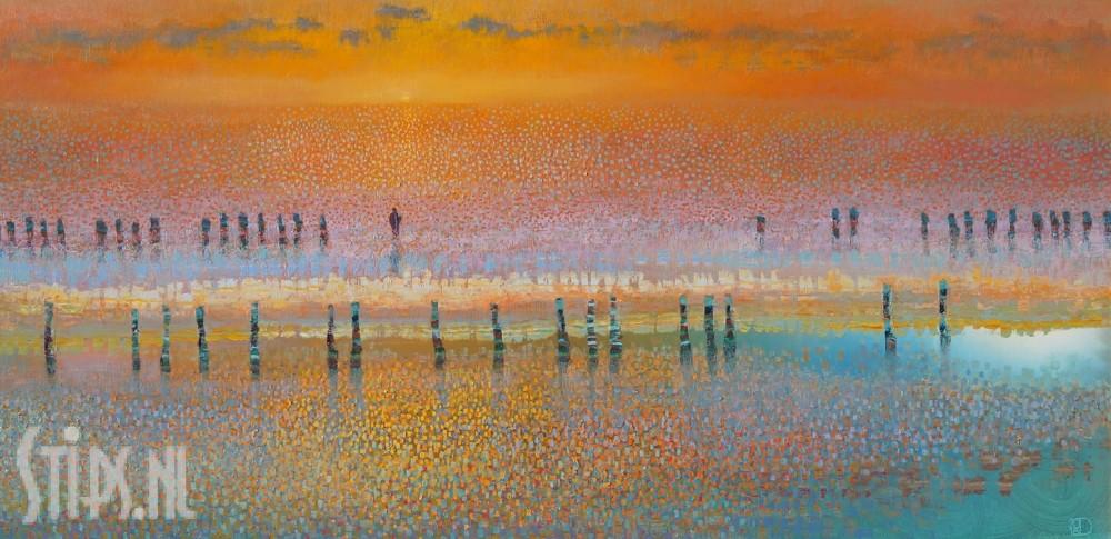Sunset on water – Ton Dubbeldam – giclee