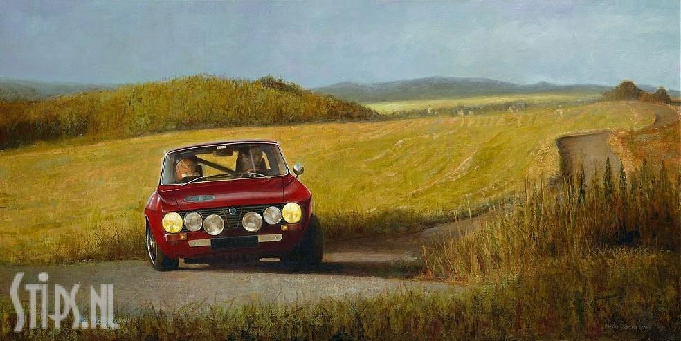 Alfa Romeo in Frans Landschap – Martin Sijbesma – giclee