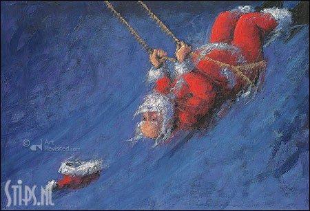 Swinging Xmas – kunst kerstkaart Peter Wever